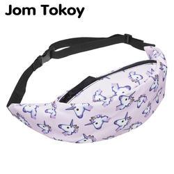 Jom Tokoy Новая цветная поясная сумка для мужчин поясная сумка в стиле единорога Женская поясная сумка для путешествий Сумки для мобильных