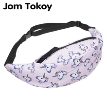 Jom Tokoy nueva bolsa de cintura colorida para hombres riñonera estilo bolsa de cinturón unicornio mujeres cintura Pack viaje teléfono móvil bolsas