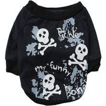Large Pet Dog Clothes Coat Puppy Doggy Killer Skull Pattern T-shirt Vest Costume Clothing Apparel Summer Spring Toy terriers