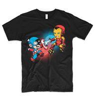 アイアンマン対キャプテンアメリカtシャツトニースタークロバートマーベルコミックチームハルクデッドプール
