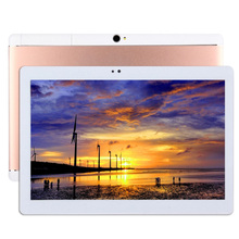 10.1 pulgadas Android 3G Tablet PC Phone Call 16 GB, Quad Core 1.3 GHz, RAM: 2 GB, Dual SIM, WiFi, GPS, OTG, con Estuche de Cuero (Rosa