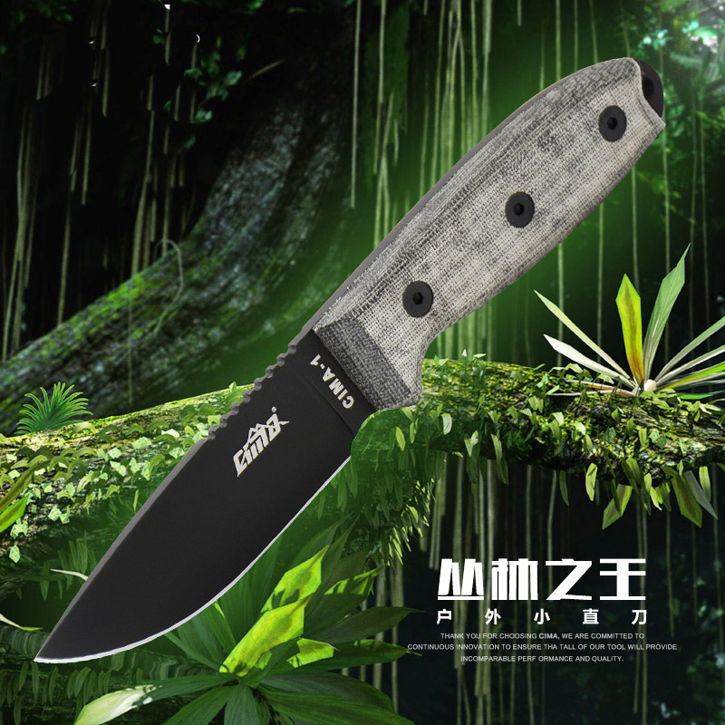 Fixed Camping Knife 7Cr17 Mov Quality Hunting D2 Stainless Tool Sheath Steel Secure High Grade Blade Knife Blade Ex Full