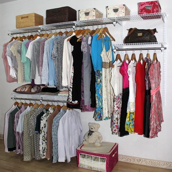 DIY Wardrobe Cloakroom Custom Walk In Bedroom Closet Adjustment Metal  Cabinet 2.45 M