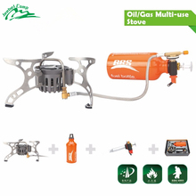 Oil/Gas Dual-Use Camping Stove Gas Burner Outdoor Cooker Picnic Cookout Split-Type Hiking Equipment Butane Blaze BRS-8