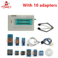 TL866A Programmer 10 Adapters English Russian Manual High Speed TL866 AVR PIC Bios 51 MCU Flash