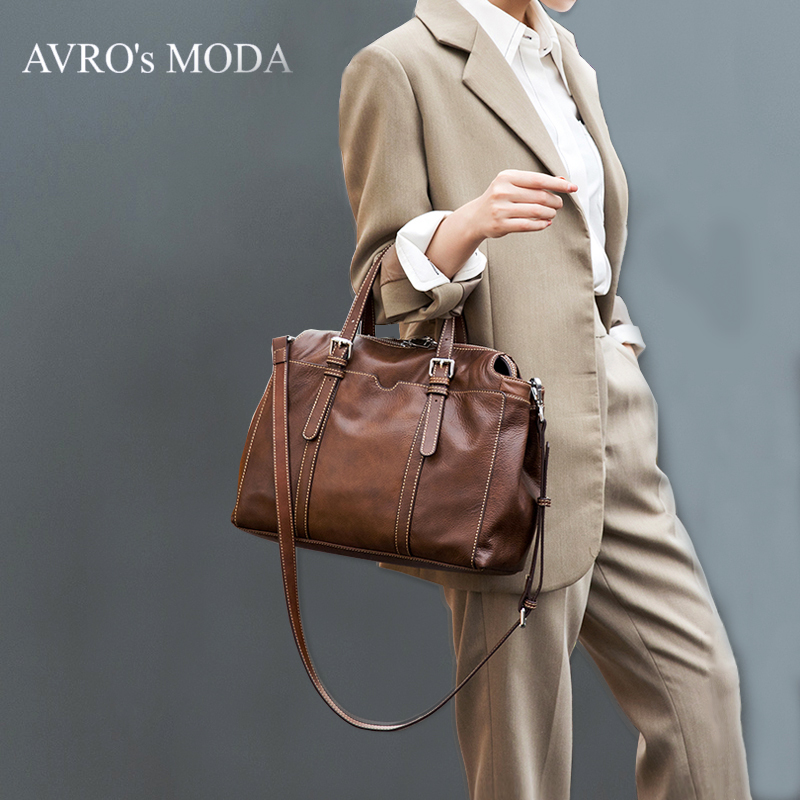 AVROs MODA Brand fashion genuine leather tote bags for women 2019 ladies large capacity hobo shoulder retro crossbody handbagsAVROs MODA Brand fashion genuine leather tote bags for women 2019 ladies large capacity hobo shoulder retro crossbody handbags