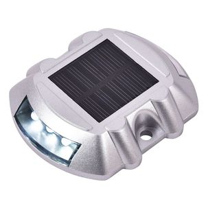 Image 5 - 8 Pack White Solar Power LED Lights Road Driveway Pathway Dock Path Ground Step