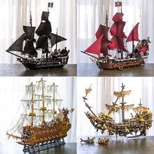 В наличии 16002 16006 16009 16016 16042 22001 Фильм Серии Пираты Карибского моря корабли модели игрушки строительные блоки кирпичи 70618