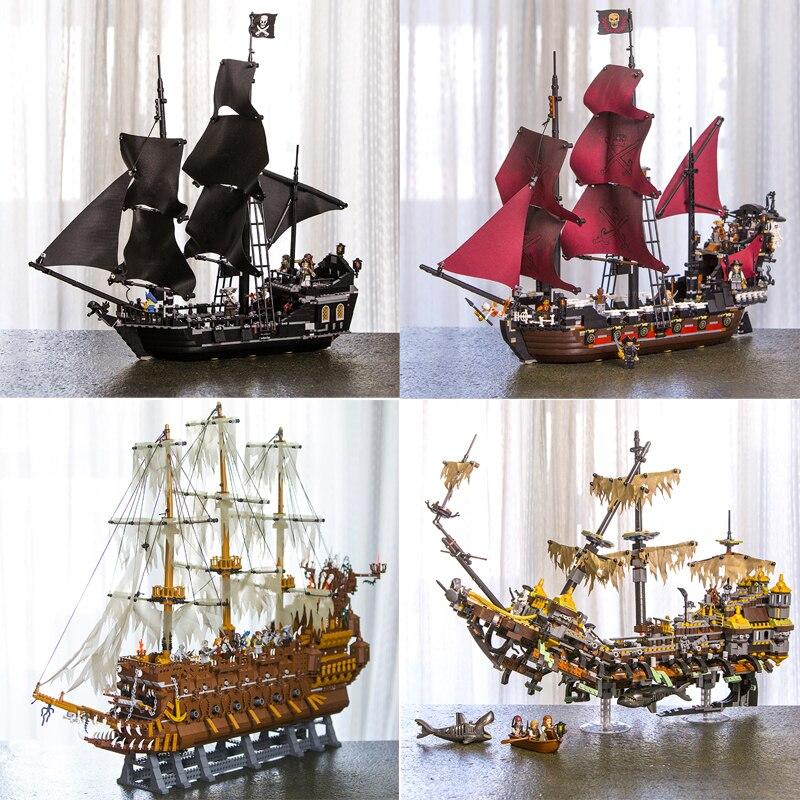 Lepin 16002 16006 16009 16016 16042 22001 06057 série de films Pirates des caraïbes jouets de construction briques 70618