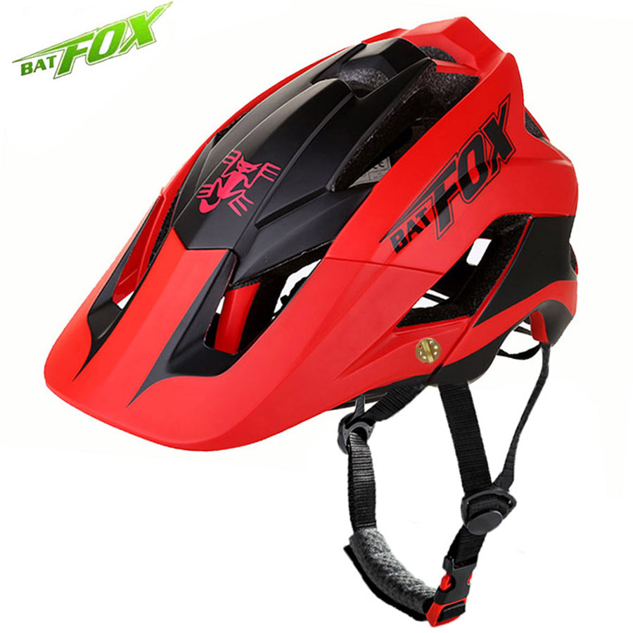 BATFOX Bicycle Helmet Men Women Ultralight Integrally-molded Cycling Helmet MTB Road Bike Helmet Outdoor Safe Cap Casco Ciclismo batfox cycling helmet road mountain cycle helmet integrally molded mtb bicycle helmet ultralight bike helmet casco ciclismo