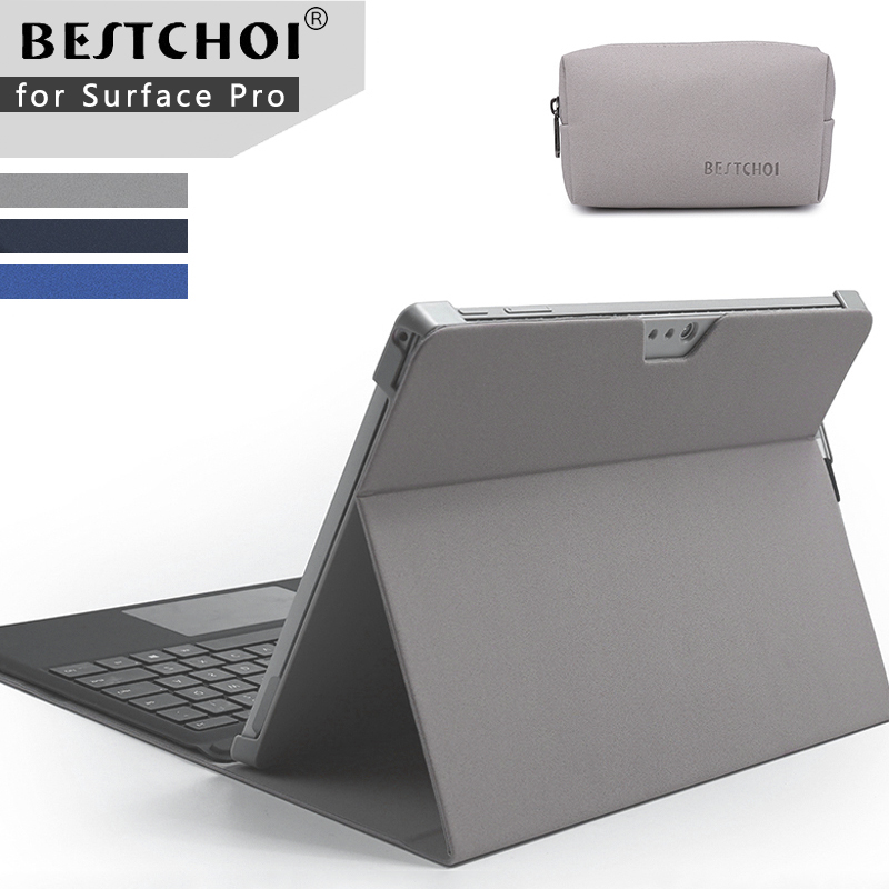 Laptop case for tablets stand holder for Microsoft surface pro 4 /pro 5 Laptop sleeve for Surface new pro 5 laptop fold holder laptop sleeve bag for microsoft surface rt pro 3 2 1 surface 3 fashion tablet case cover waterproof hand holder design pouch
