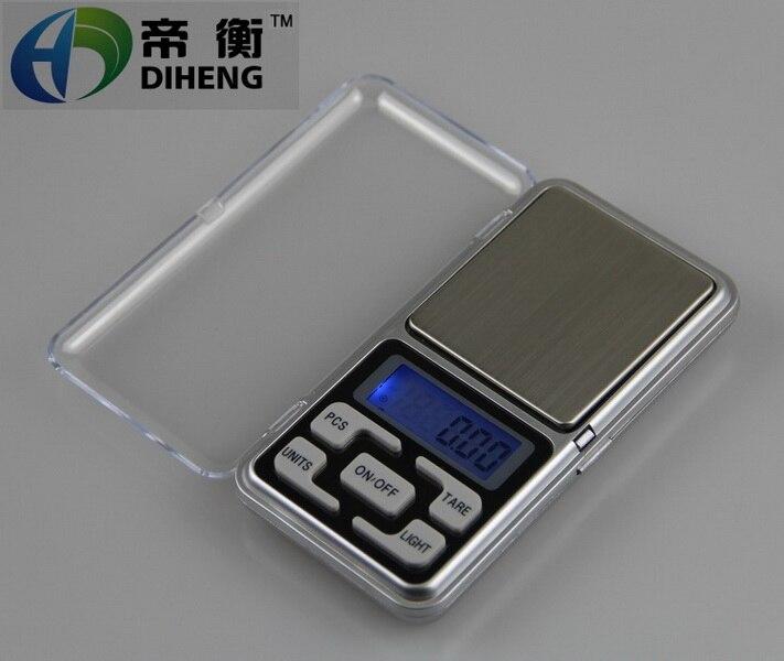 by dhl 200pcs high quality 500g x 0 1g 200gx0 01g Mini Digital Jewelry weigh Scale