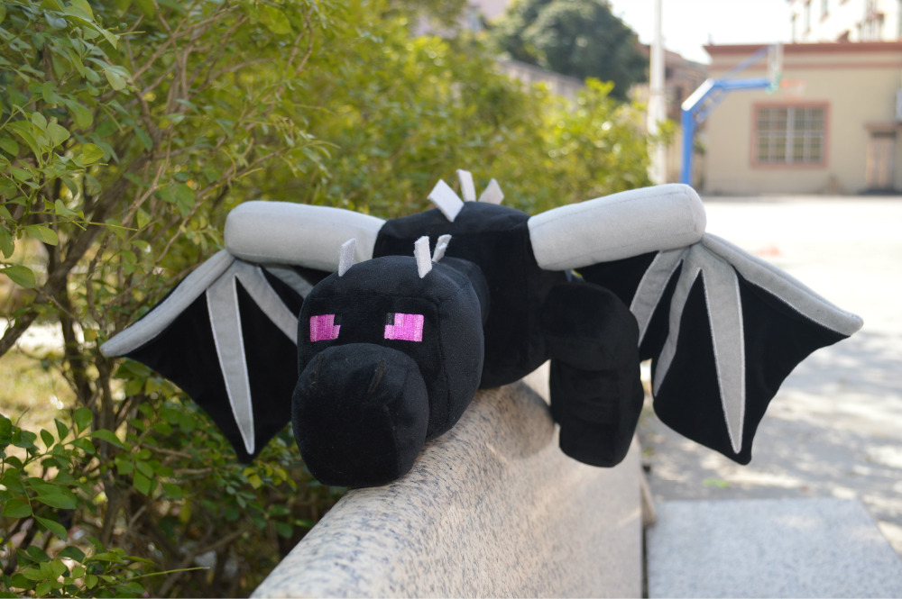 Promotion Big Size ! Minecraft Fat Ender Dragon Plush Doll Soft Black Minecraft Enderdragon Stuffed Doll Boys Kids Birthday Gift 2015 hot 24 60cm huge big minecraft ender dragon plush soft black minecraft pp cotton minecraft dragon toys