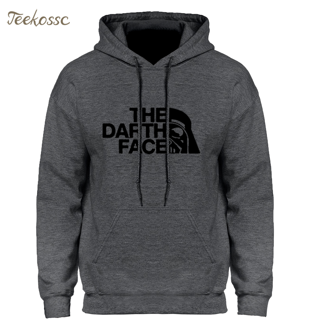 Star Wars Darth Face Hoodie Hoodies Sweatshirt Men 2018 New Spring Autumn Hooded Faces No Face Streetwear Homme Black Gray Hoody(China)
