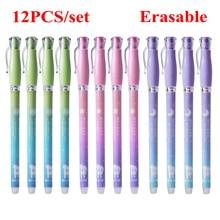 DELVTCH 12pcs set 0 38mm Kawaii Moomin Erasable Pen Blue Black Magic Gel Pen School Office