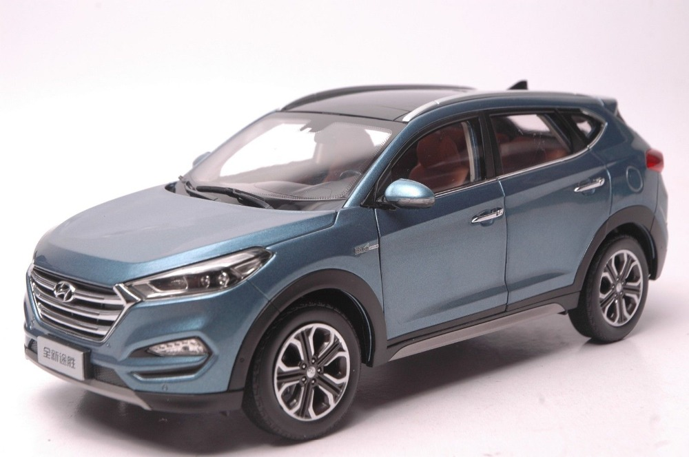 все цены на  1:18 Diecast Model for Hyundai Tucson 2015 Blue SUV Alloy Toy Car Collection IX  онлайн