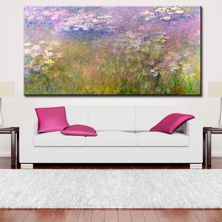 Mur Photo peinture à l'huile de Claude Monet emblématique de Nénuphars série ne manque jamais d'impressionner peintre peinture murale d'impression Pas encadrée