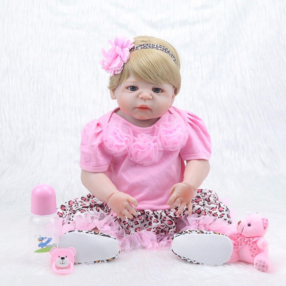 Reborn Baby All Real Silicone Doll Reborn For Kids Gift 22 Princess Newborn Baby Live Reborn Bones кукла 44271926101 usa berenguer reborn baby doll