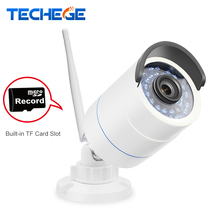 Techege 1280*720P WIFI IP Camera HD 1.0MP wifi camera waterproof Night Vision Outdoor TF Card Slot CCTV Camera Motion Detection