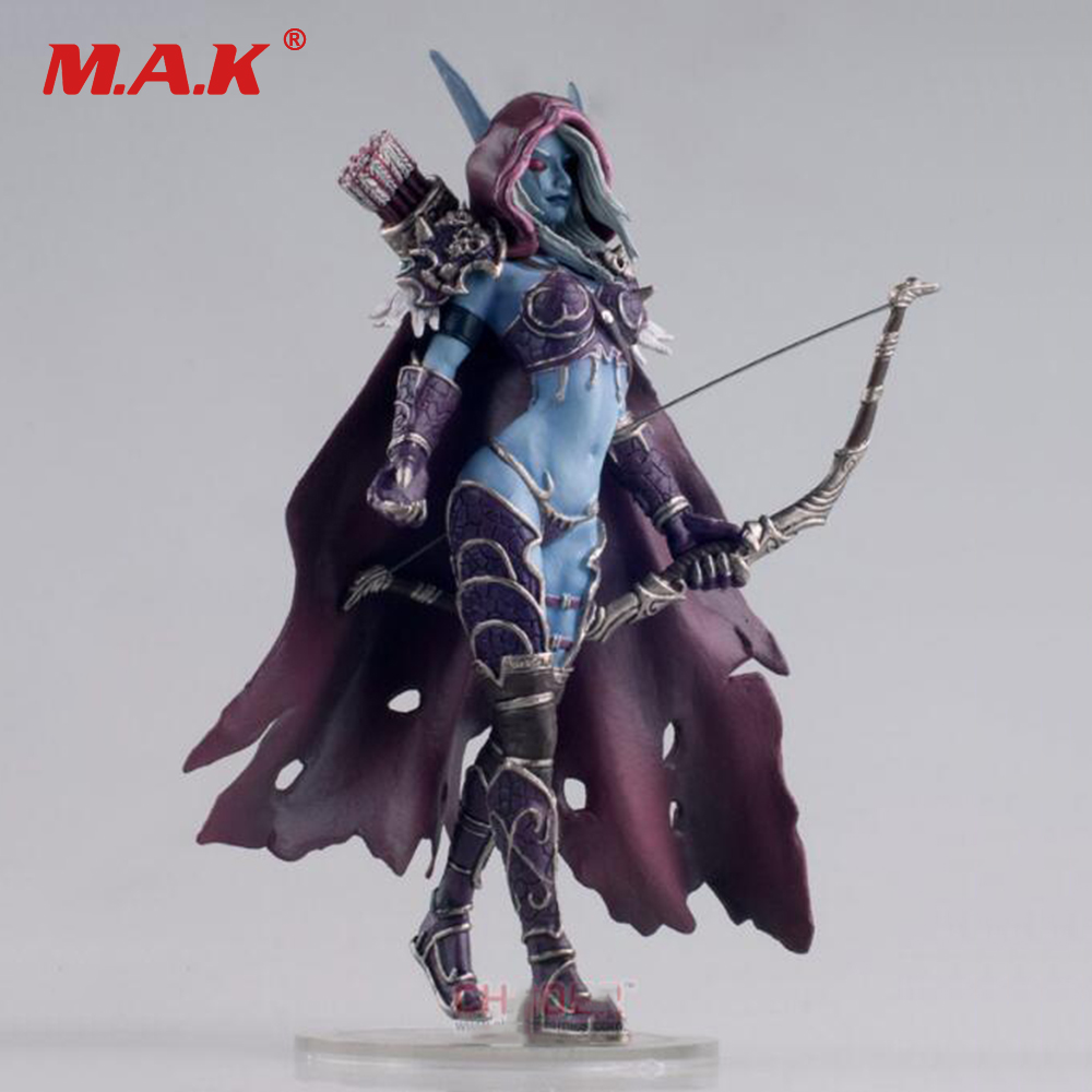 Toys Gift for Boys 17CM WOW Sylvanas Windrunner Archery Queen PVC Anime Action Figure Model With Base for Children Birthday world of warcraft wow pvc action figure display toy doll forsaken queen sylvanas windrunner