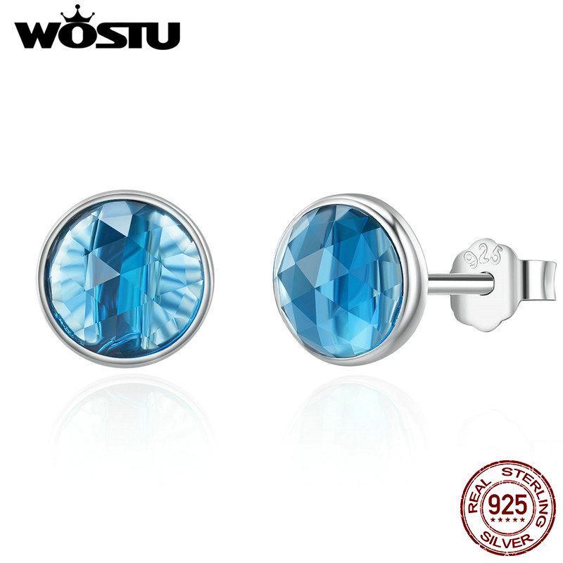WOSTU Popular 100% 925 Sterling Silver December Droplet Stud Earrings for Women Sterling Silver Jewelry Gift hame a5 3g wi fi ieee802 11b g n 150mbps router hotspot black