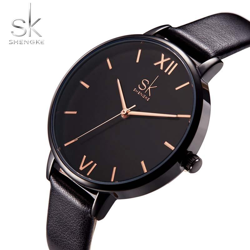 Women Watches Hot fashion creative watches women New Elegant Dress Leather Strap Ultra Slim Wrist Watch clock Reloj Mujer