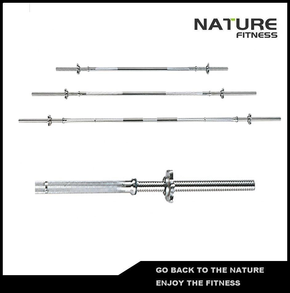28mm Diameter 7FT Barbell Standard Straight Bar with Spin Lock For Weight Lifting Strength Training Free Shipping