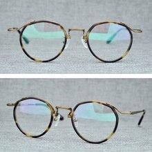Handmand Acetate Vintage Round Glasses Frame Men Brand Retro Clear Lens Eyeglasses Women Optical Spectacle Frames Eyewear Oculos