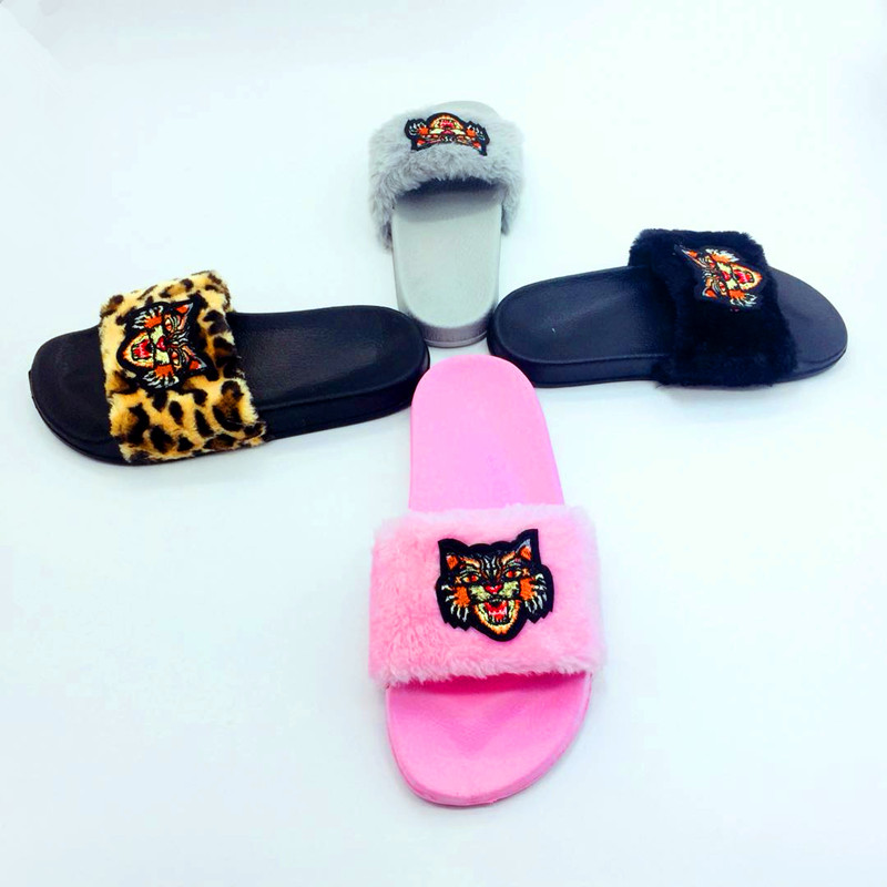 AoXunLong Neue Pelz Slides Flip-Flops Frauen Hausschuhe Bajan Terlik - Damenschuhe - Foto 2