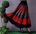 Folk estilo outono moda cigana Boemia busto saia das mulheres