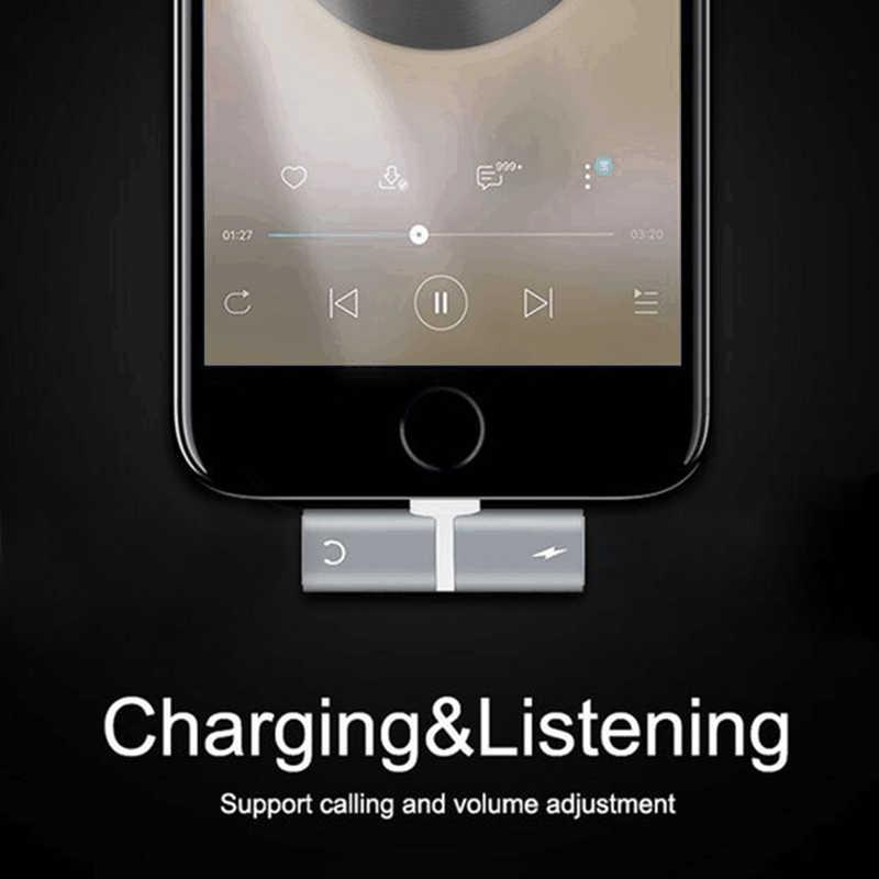 Kebidu 2 في 1 ل البرق ل فون 7 8 زائد X شاحن الصوت المزدوج محول محول الخائن سماعة كابل مساعد ل iOS 10
