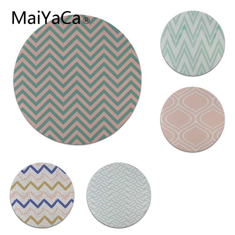MaiYaCa Simple Design Double Line Twists and Turns Round Mouse pad PC Computer mat Size for 20x20cm and 22x22cm Cool Mouse Pads