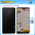 High quality Replacement lcd display with touch screen digitizer frame for Microsoft Nokia Lumia 640 lcd assembly Black+tools