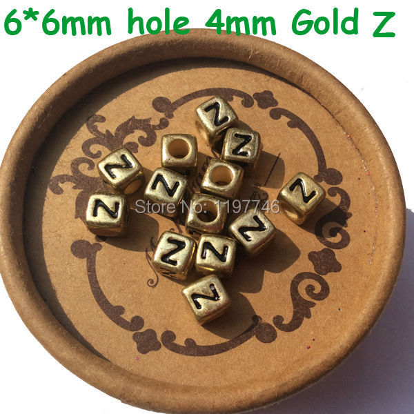 Wholesale 2750pcs Cube Gold Color Acrylic Letter Beads 6*6mm Plastic Single Letter R Printing Alphabet Name Bracelet Beads Top Watermelons Jewelry & Accessories