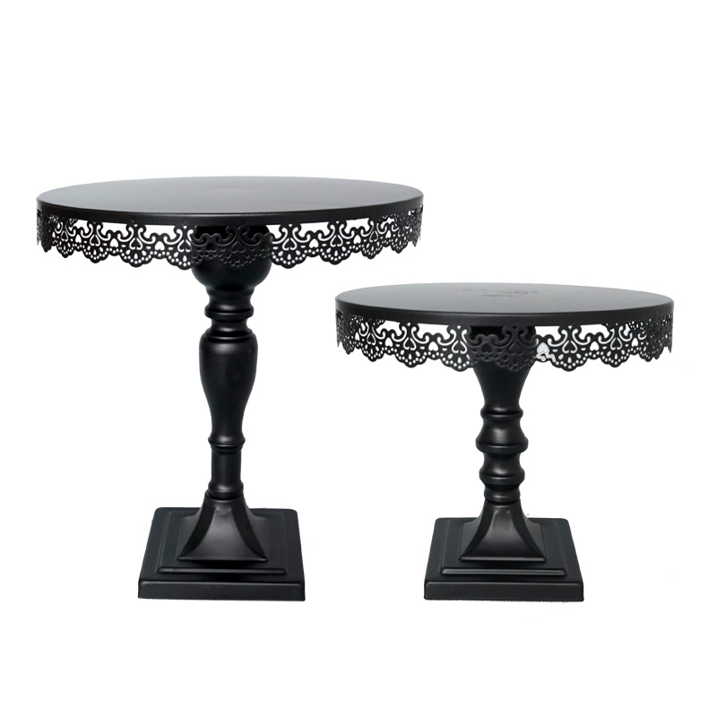 12 Inch Black Cake Stand Fondant Cake Display Tools For Wedding