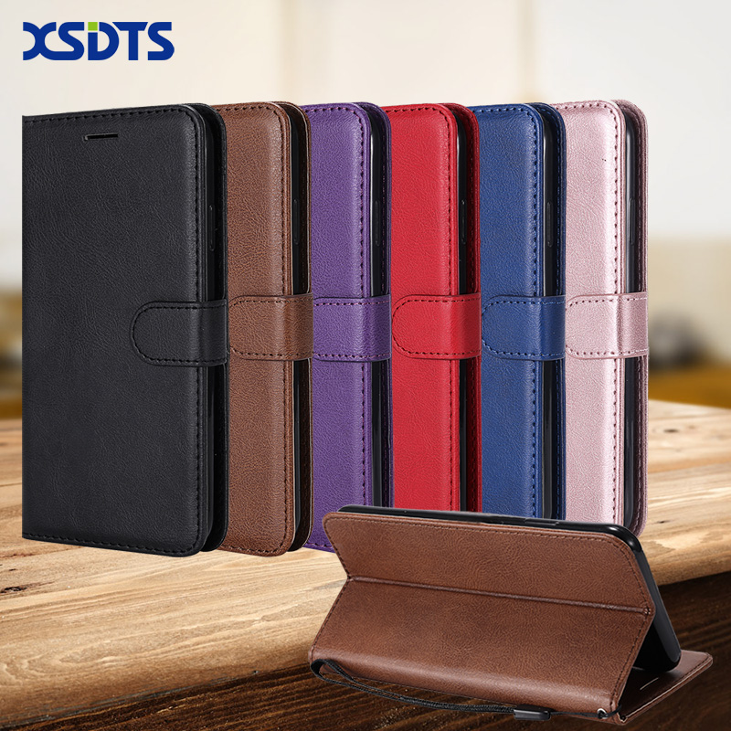 XSDTS Coque Wallet Case For <font><b>Motorola</b></font> Moto <font><b>E4</b></font> Plus XT1770 XT1773 <font><b>XT1762</b></font> XT1766 XT1763 Flip PU Leather Wallet Phone Case image