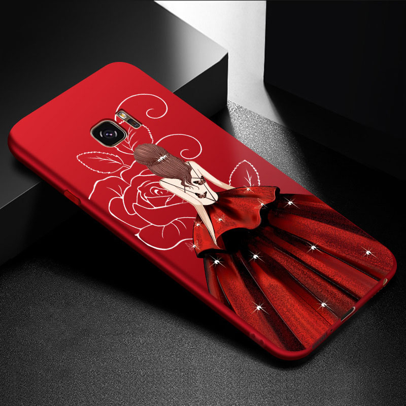 Galleria fotografica ASINA Fashionable Full Cover Case For Samsung Galaxy S7 Case Luxury With Beautiful Dress Silicone Cover For Samsung S7 Edge