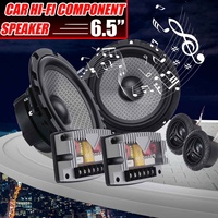 6.5 Inch 400W Car Audio Two way HiFi Component Speaker System 25 mm Dome Tweeter 1 Inch ASV Voice Coil Car Universals