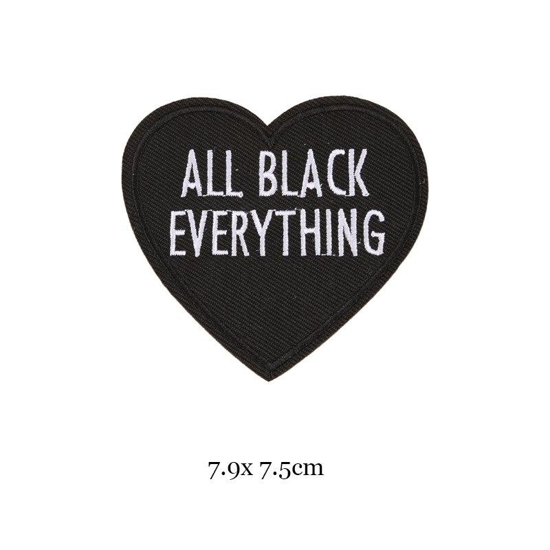 1 шт., черные, белые байкерские нашивки для одежды, железная одежда, аппликация с буквами, Череп, звезда, полосы, вышитая наклейка, круглый значок - Цвет: 38