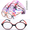 wholesale lot 1008 pupil TR90 dual color optical full-rim with 180 degree flexible spring hinge Oval optical eyeglasses frame