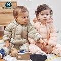 Мини-комбинезон для малышей, детский зимний пуховик, детские комбинезоны для младенцев, цельнокроеный комплект с рисунком для мальчиков и д...