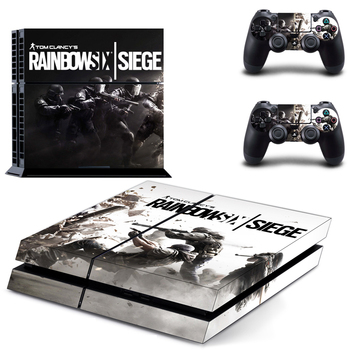 Game Rainbow Six Siege PS4 Skin Sticker Decal Vinyl for Sony Playstation 4 Console and 2 Controllers PS4 Skin Sticker