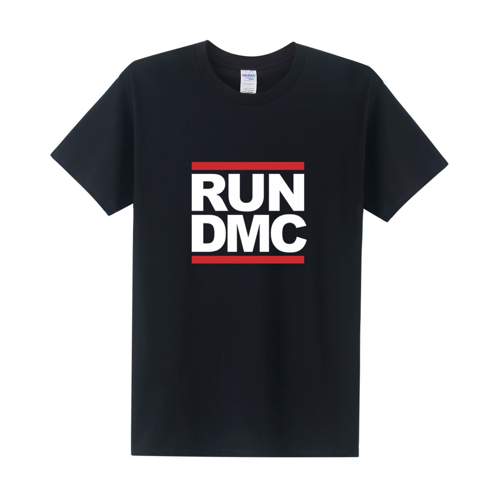 New DMC   T     Shirts   Men Short Sleeve Cotton   T  -  Shirt   Run DMC Printed Tee   Shirt   Plus Size Men Clothing XS-3XL OT-290