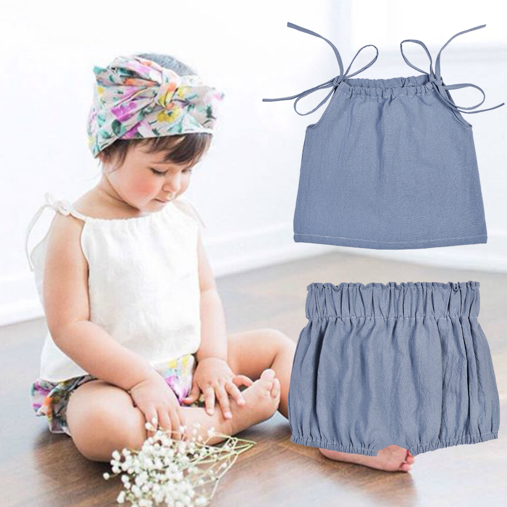 2018 OkayMom Summer INS HOT Baby Girls Clothing Set Newborn Infant Lolita Pink Camis Shorts Set Official Store Bebe Clothes