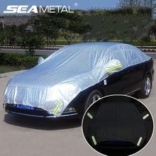 Capa para metade do carro, cobertura para janela, para sol, cortina para carros, capa protetora contra o sol, luminosa, à prova d água, acessórios para automóveis