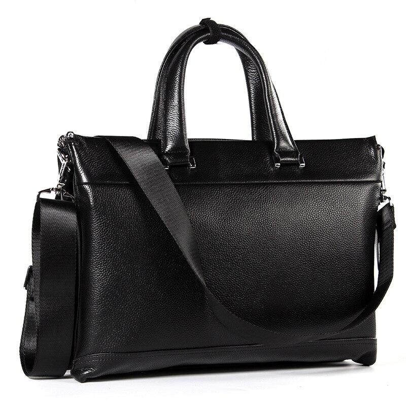 Hot Selling Leather Business Bag Men Genuine Leather Handbag Briefcases