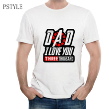 I Love You 3000 Time Men's T Shirt  Iron Man Love U 3 Three Thousand Times Design Funny T Shirts Summer Casual White Moive Tops t shirt chicco size 086 flower i love you pink