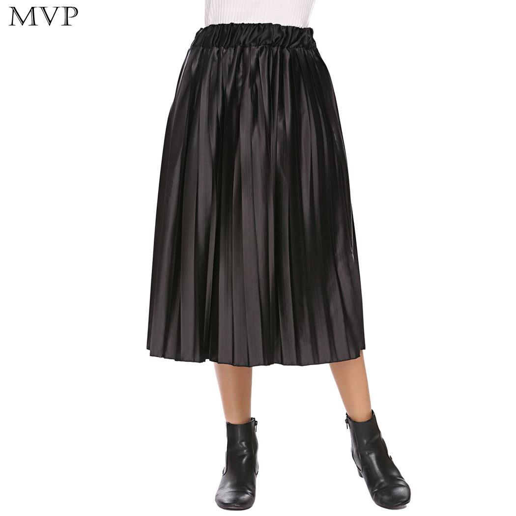 75de40c6d ... about Casual Pleated Summer Party 90cm Women 60cm Autumn Bust High  Height Satin Hip Waist Skirt Midi 85cm 171cm Spring Elastic Solid on  Aliexpress.com ...