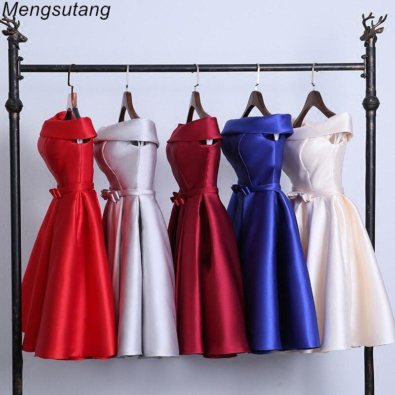 Robe De Soiree 2020 Short Reflective Dress Evening Dress Boat Neck Party Ball Gown Vestido De Festa Vestito Da Sera Prom Dresses