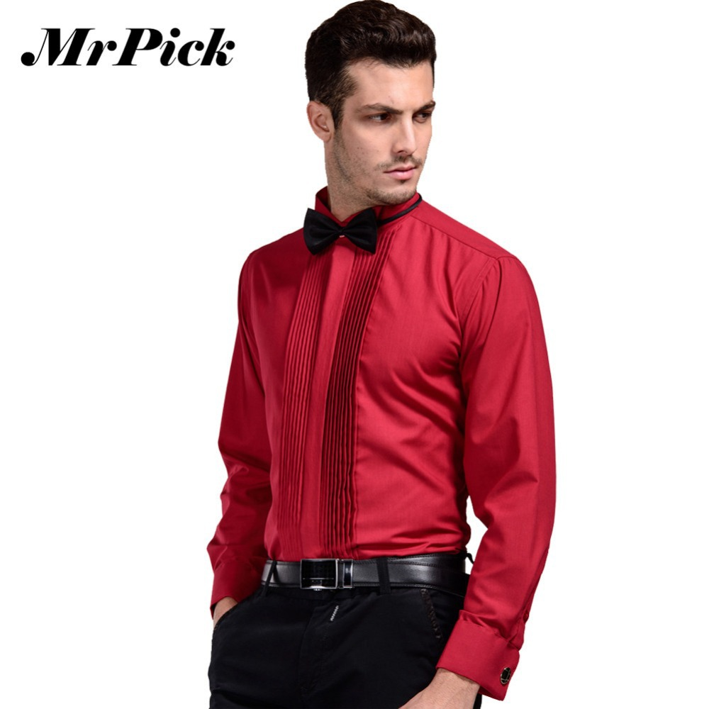 Pleated ruched details formal men 39 s shirts 2015 new for Tuxedo shirts for men